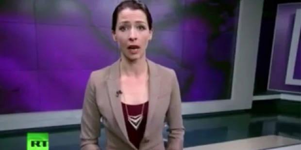 """Une présentatrice de la télévision russe dénonce une """"agression"""" en Ukraine - La DH"""