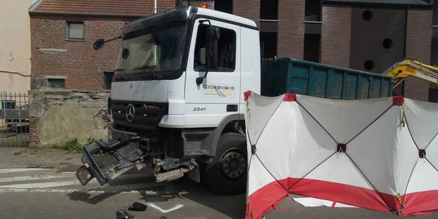 Frasnes-lez-Gosselies: un chauffeur de camion percuté par une voiture sur un chantier - La DH