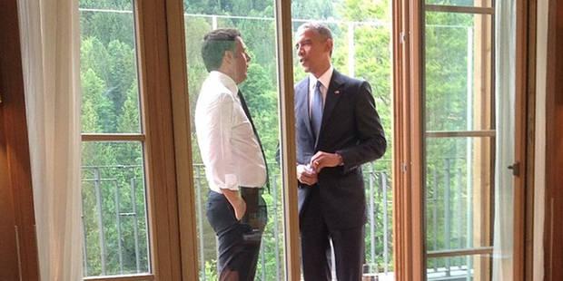 Cette photo d'Obama met l'Amérique en émoi - La DH
