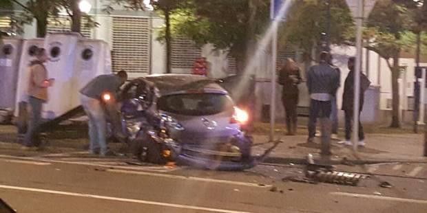 Schaerbeek : un voleur de voiture provoque un terrible crash et parvient à prendre la fuite (VIDEO) - La DH