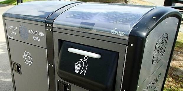 Piétonnier bruxellois: des poubelles intelligentes à 4200€ pièce! - La DH