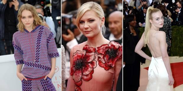 Lily-Rose Depp, Kirsten Dunst, Elle Fanning : les nouvelles reines de Cannes - La DH