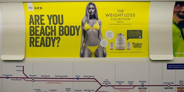 """Les publicités avec des corps """"irréalistes"""" désormais bannies du métro de Londres - La DH"""