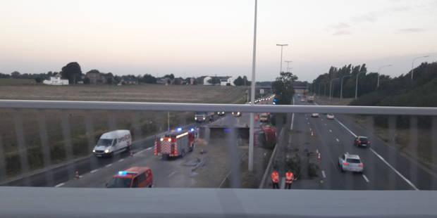 L'autoroute E40 fermée entre Crisnée et Hognoul - La DH