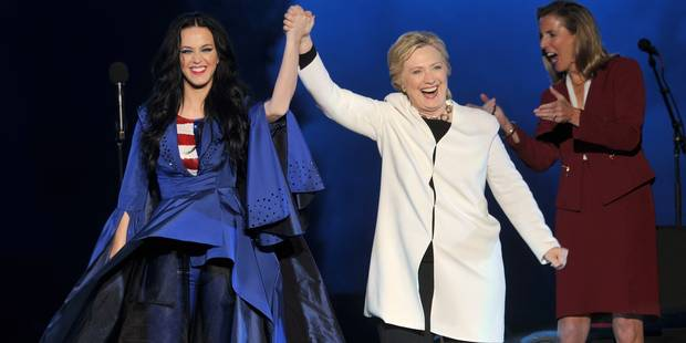 Après Jennifer Lopez et Beyoncé, Katy Perry chante pour Hillary Clinton - La DH