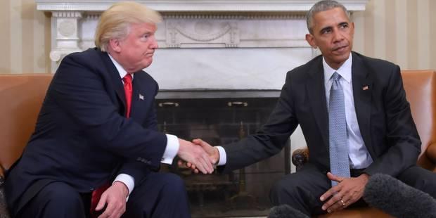 """Obama invite le monde à """"laisser une chance"""" à Trump - La DH"""