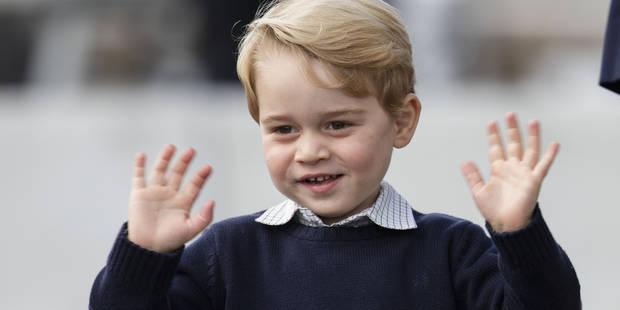Impatient, le prince George a déjà ouvert ses cadeaux de Noël - La DH