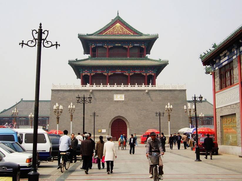 La Drum Tower, tour du tambour qui fait partie du patrimoine historique de la ville.