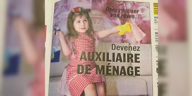 """Une pub sexiste du Forem fait polémique: des """"clichés inappropriés"""" et un """"un manque de vigilance"""" - La DH"""