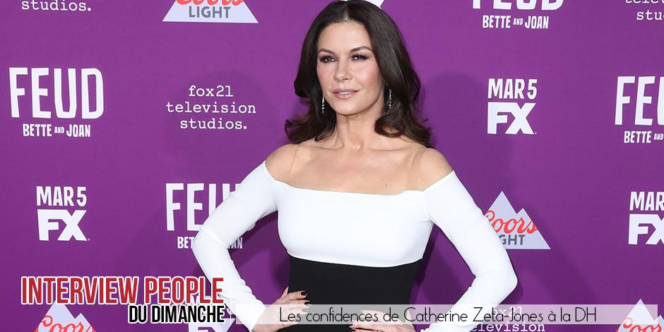 """Les confidences de Catherine Zeta-Jones: """"J'ai passé l'âge de chercher les compliments !"""" - La DH"""