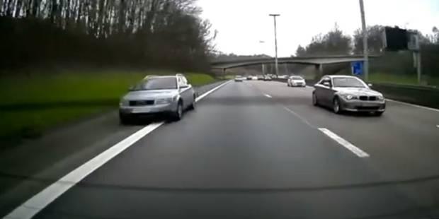 Comportement dangereux sur le ring de Bruxelles: il roule à une vitesse folle sur la bande d'arrêt d'urgence (VIDEO) - L...