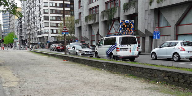 Liège : accident spectaculaire sur le boulevard d'Avroy - La DH