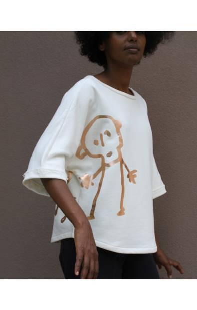 Haria Hello kimono sweater de A Ka So, 150€,  en boutique