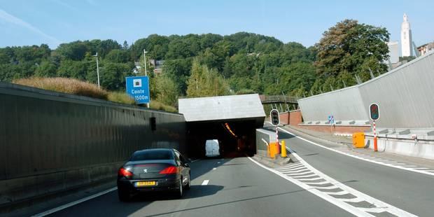 Bouchons dans le tunnel de Cointe en raison de travaux - La DH