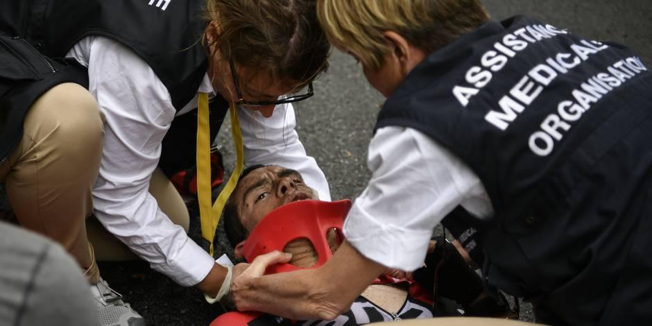 Richie Porte évacué en ambulance après une terrible chute (vidéo)