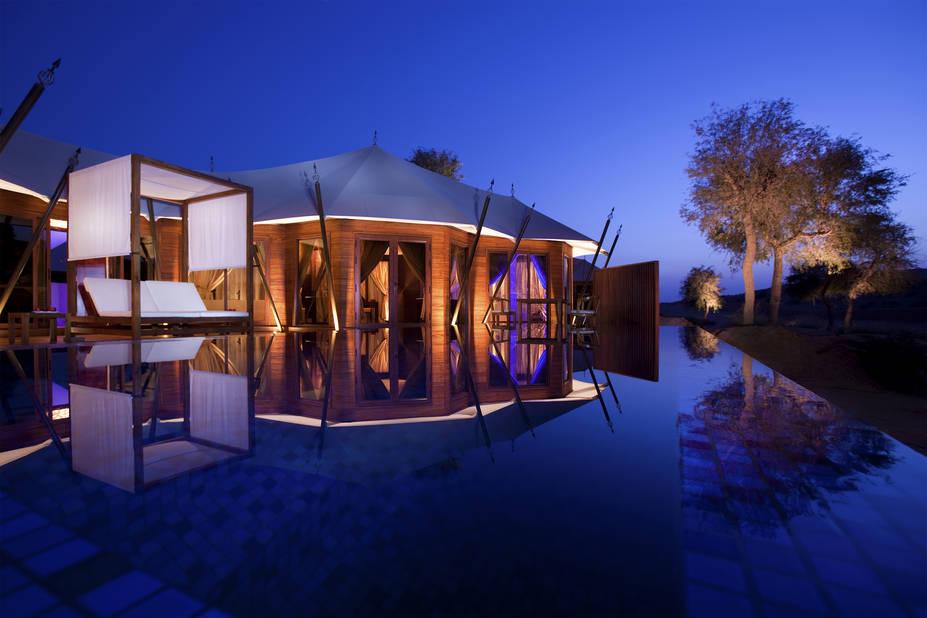 Un des hôtels de luxe de l'endroit, le Al Wadi Desert.