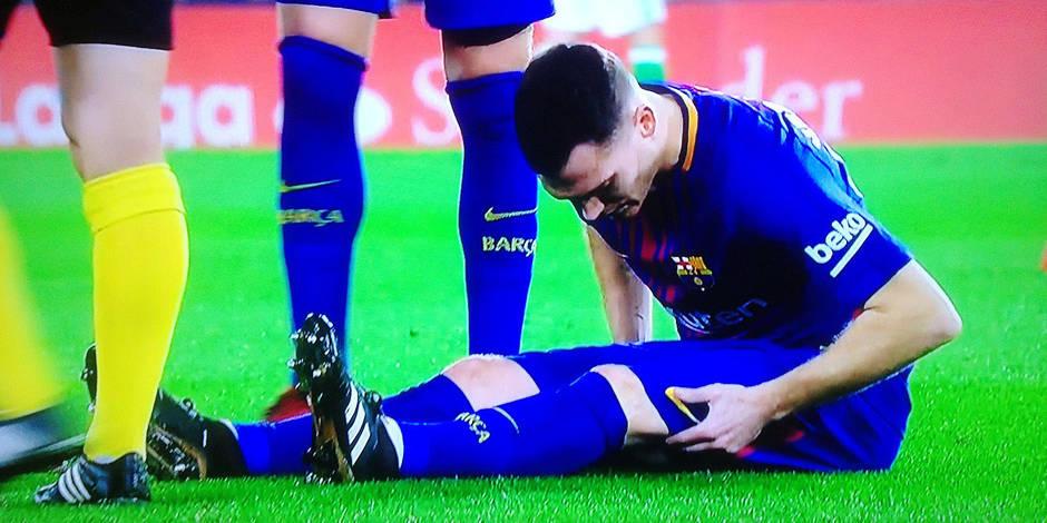 Vermaelen out deux semaines — Barça