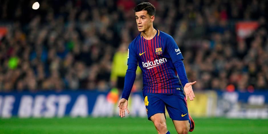 Coutinho sur le banc — Barça