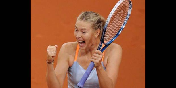 Stuttgart: Maria Sharapova en forme vers Roland Garros - La DH