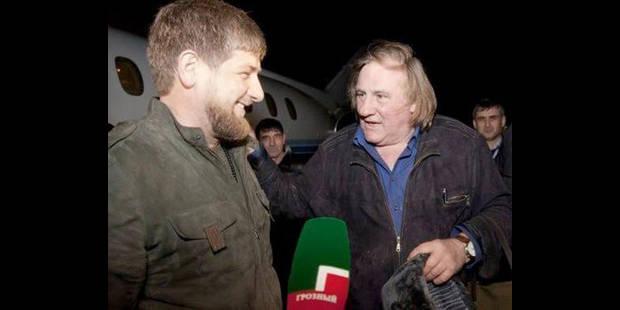 """Depardieu veut tourner un film sur la Tchétchénie de son """"ami"""" Kadyrov - La DH"""