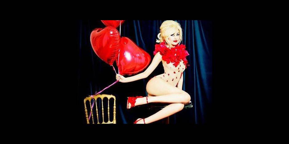 Zahia, une sexy Valentine!