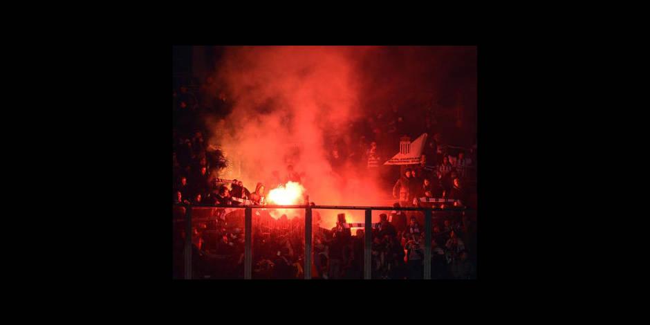 Sanction d'un match à huis clos avec sursis confirmée pour Charleroi