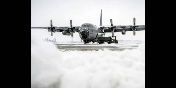 Départ du personnel au sol des C-130 belges à destination d'Abidjan - La DH