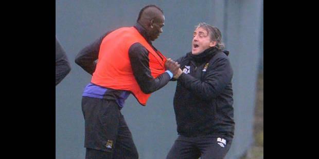 Roberto Mancini minimise l'incident avec Balotelli - La DH