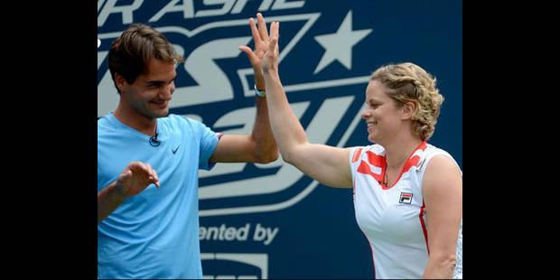 """Federer : """"J'ai toujours aimé suivre Kim"""""""