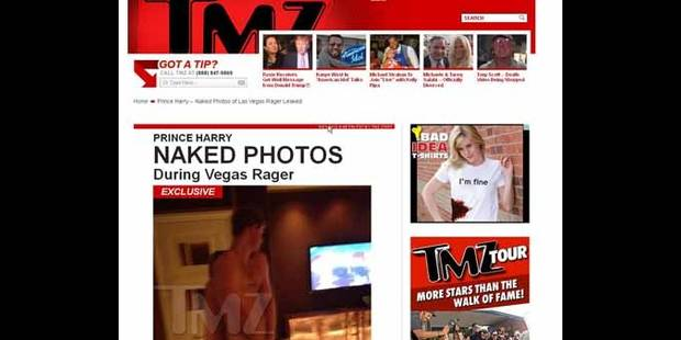 Le Prince Harry tout nu à Las Vegas