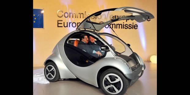 Hiriko, une petite voiture électrique pliable - La DH