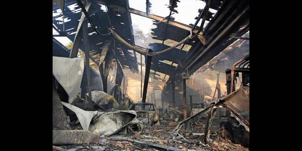 Un garage ravagé par le feu! - La DH