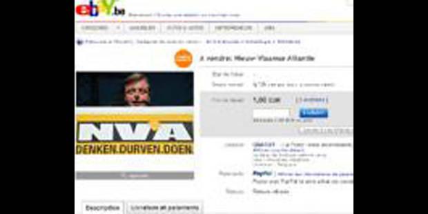 La N-VA aux enchères sur eBay - La DH