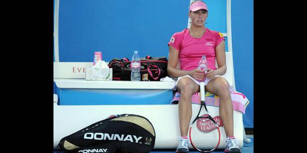 Yanina Wickmayer sans énergie à cause d'un refroidissement