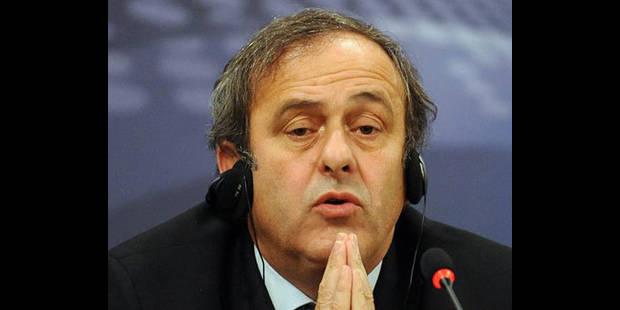 """Platini satisfait de l'arbitrage à cinq et """"pas favorable"""" à la vidéo"""