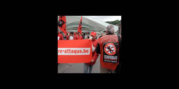 Un millier de manifestants FGTB à Liège - La DH