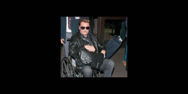 Johnny Hallydayen chaise roulante!