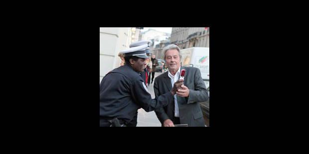 Alain Delon flashé par la police