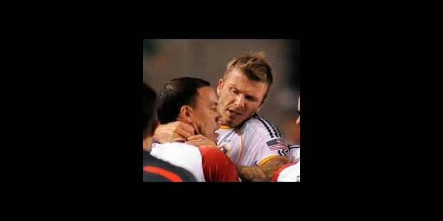 David Beckham s'en prend à un adversaire