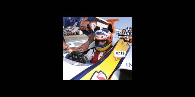 En piste à bord d'une vraie F1