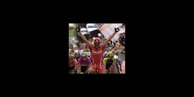 Et voilà la 32e victoire de Cipollini au Tour d'Italie !