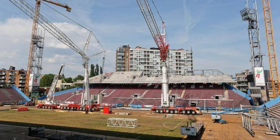 Le Stade du Pays de Charleroi sera prêt pour la reprise du championnat