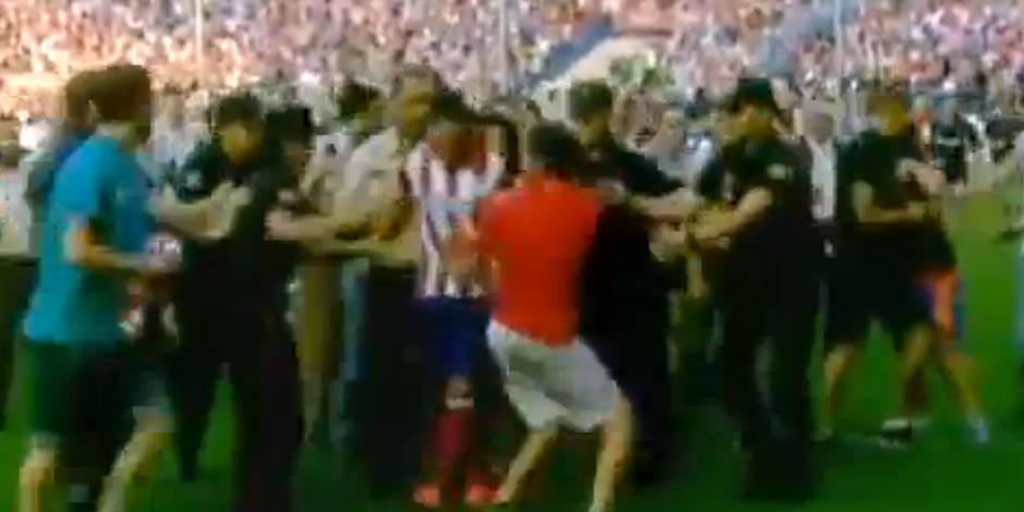 Incident lors de la présentation de David Villa à l'Atletico