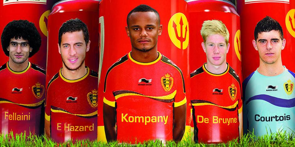 Fellaini, Hazard, Kompany, Courtois... en canettes de bière !