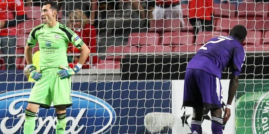 C1: mauvaise entrée en matière pour Anderlecht à Benfica (2-0)