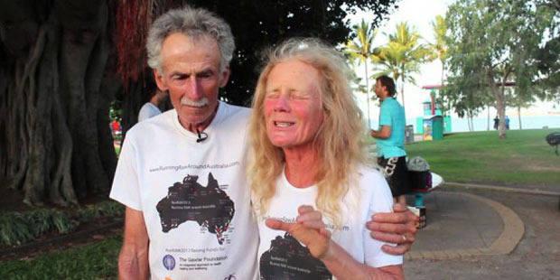 La fin de 365 jours de marathons pour un couple australien ! - La DH