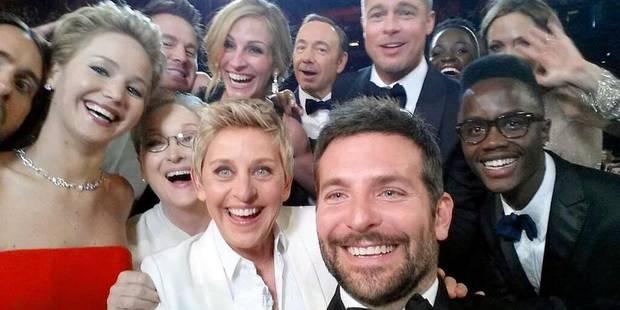 """Sur Twitter, un """"selfie"""" des Oscars écrase la réélection d'Obama - La DH"""