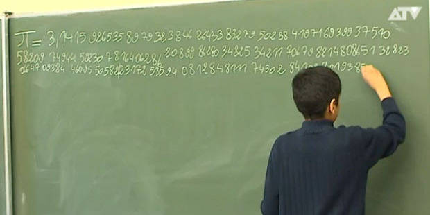 13 ans ce belge crit le nombre pi jusqu 39 1015 for Le chiffre 13 film