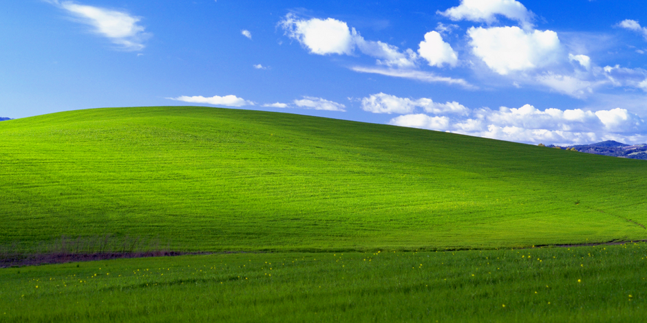 L'origine du célèbre fond d'écran de Windows XP