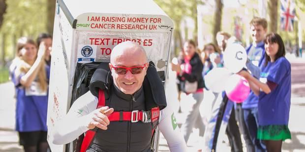 Il court deux fois le marathon de Londres avec un frigo sur le dos ! - La DH